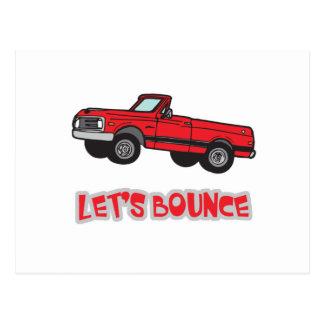 Lets Bounce Truck Postcard