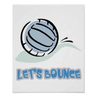 Lets Bounce Volleyball Poster