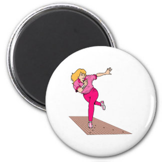 Let's Bowl 2 Inch Round Magnet