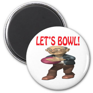 Lets Bowl 2 Inch Round Magnet