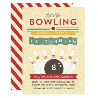 Let's Bowl! Birthday Party Invitation