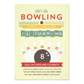 Let's Bowl! Birthday Party Invitation 5