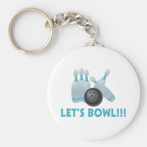Let's Bowl Bowling Ball & Pins Keychains