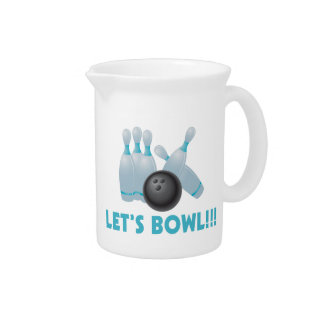 Let's Bowl Bowling Ball & Pins Pitcher