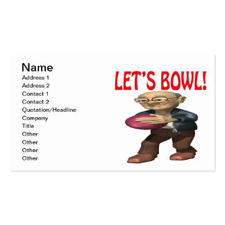 Lets Bowl Business Card Templates