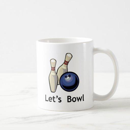 Let's Bowl Classic White Coffee Mug