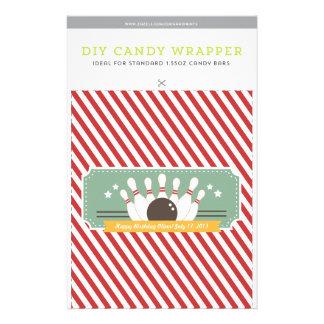 Let's Bowl! DIY 1.55oz Candy Bar Template Flyer
