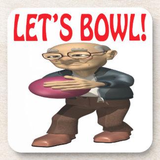 Lets Bowl Drink Coaster