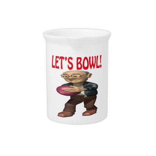 Lets Bowl Drink Pitcher