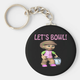 Lets Bowl Keychain
