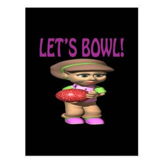 Lets Bowl Postcards