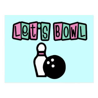 Let's Bowl! Postcard