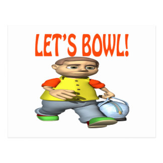 Lets Bowl Post Cards