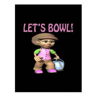 Lets Bowl Postcard