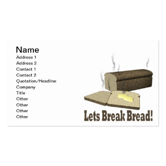 Lets Break Bread Double-Sided Standard Business Cards (Pack Of 100)
