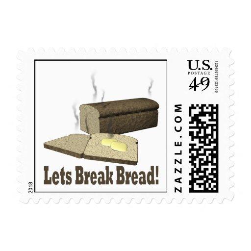 Lets Break Bread Postage Stamp