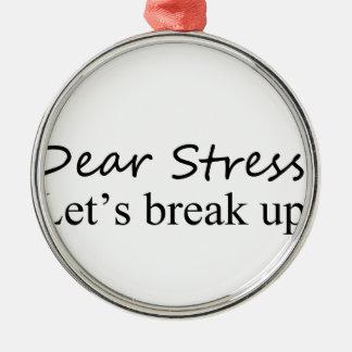 let's break up christmas tree ornament