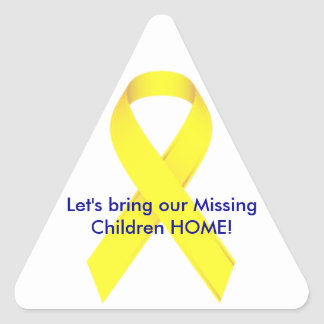 Let's bring our Missing Children HOME! Triangle Sticker