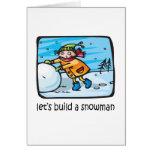 Let's Build A Snowman Cards