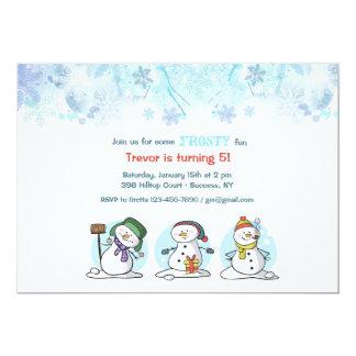 Let's Build a Snowman Invitation
