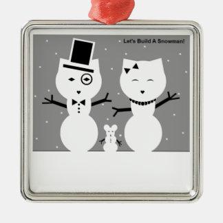 Let's Build A Snowman Ornament