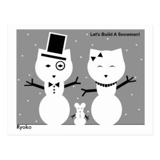 Let's Build a Snowman Postcard