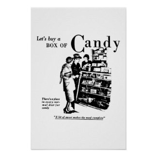Let's Buy A Box Of Candy advertisement 1930 Print