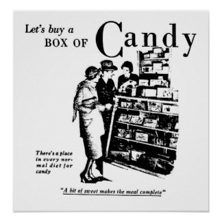Let's Buy A Box of Candy Print