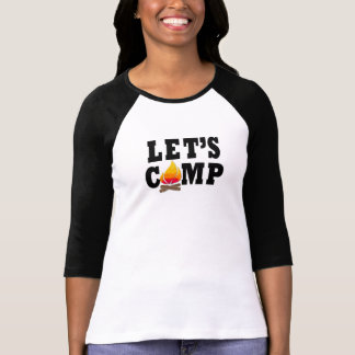 Let's Camp Campfire 3/4 Sleeve Tshirt