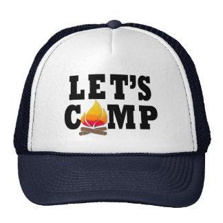 Let's Camp Campfire Trucker Hat