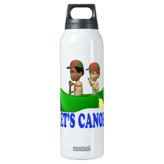 Lets Canoe 16 Oz Insulated SIGG Thermos Water Bottle