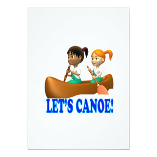 """Lets Canoe 2 5"""" X 7"""" Invitation Card"""