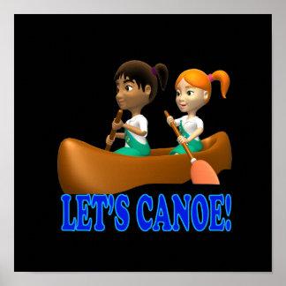 Lets Canoe 2 Print