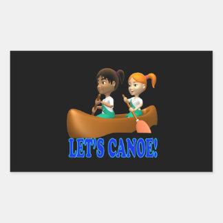 Lets Canoe 2 Rectangular Sticker