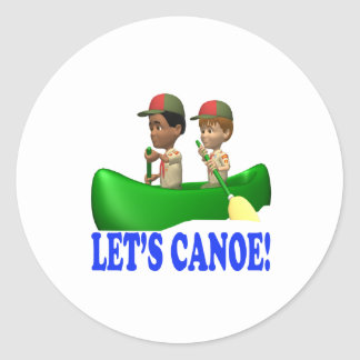 Lets Canoe Classic Round Sticker