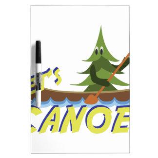 Lets Canoe! Dry-Erase Board