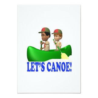 """Lets Canoe 5"""" X 7"""" Invitation Card"""