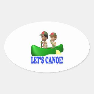 Lets Canoe Oval Sticker