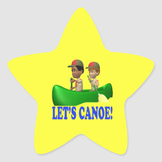 Lets Canoe Star Sticker