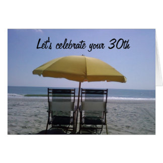 """LET'S CELEBRAT YOUR """"30th"""" TOGETHER Greeting Card"""