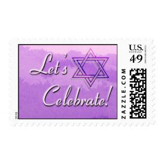 Lets celebrate 3 postage stamp