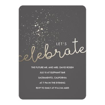 Beach Themed Let's Celebrate! Card