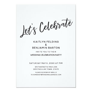 Let's Celebrate Casual, Modern Reception-Only Invitation