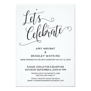 Let S Celebrate Elegant Post Wedding Reception Invitation