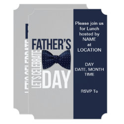 Let's Celebrate Father's Day Party Invitations