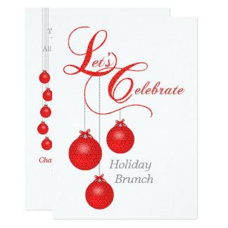 Let's Celebrate Holiday Brunch Card