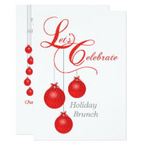 Let's Celebrate Holiday Brunch Invitation