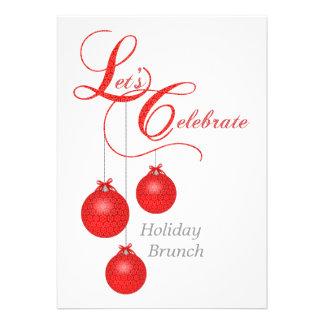Let's Celebrate Holiday Brunch Custom Invitation