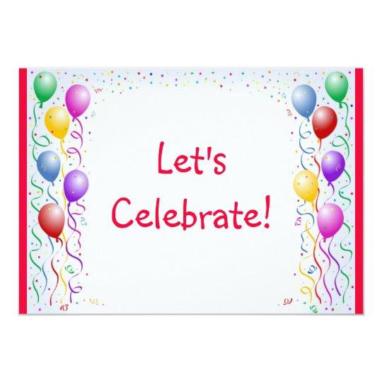 Let's Celebrate invite