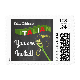 Let's Celebrate Italian Sytle Postage stamp